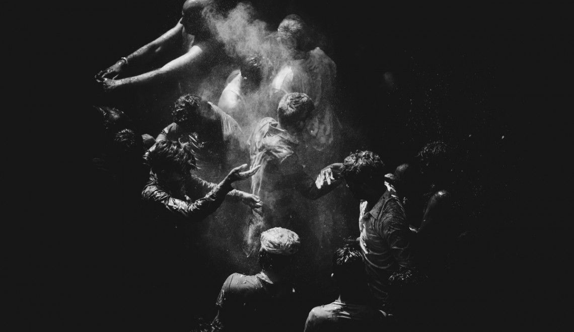 Holi Festival in India, Black & White