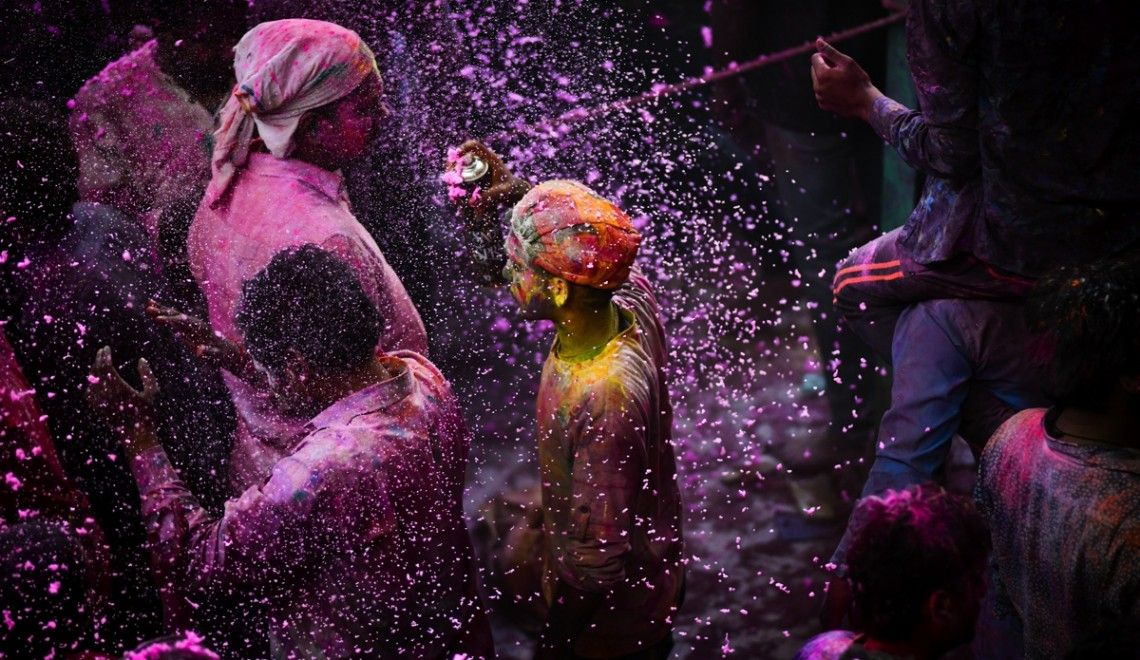 Holi Festival in India, Coloured